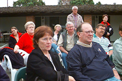 Vern Wright and his wife look sooo attentive during the meeting -- Click to Enlarge